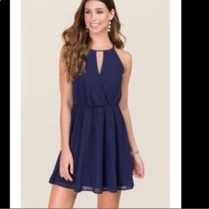 Francesca's Miami PURPLE keyhole dress